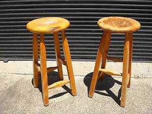 2 x FREE WOODEN BAR STOOLS (Also view my other items for sale) Abbotsford Yarra Area Preview