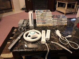 Nintendo Wii with 18 games