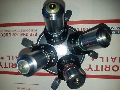 Nikon Optiphot Rms Nomarski Dic Microscope Nosepiece With Mplan Lenses