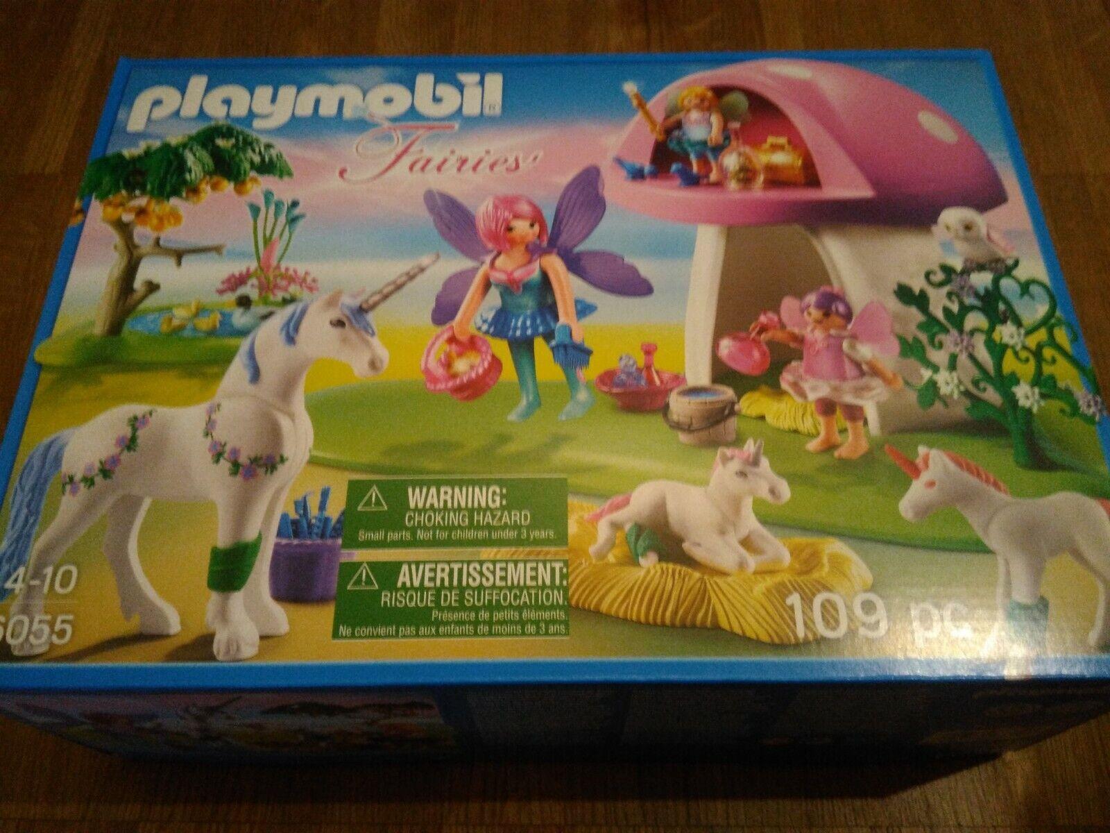 Playmobil ® Fairies 6055 Feenwäldchen mit Einhornpflege - *NEU*