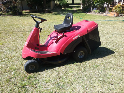 Solo brand ride on mower with catcher