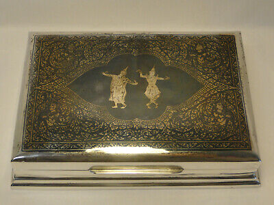 Siam Sterling Silver & Niello Jewelry Trinket Box Cigarette Case Thailand ZC2-26