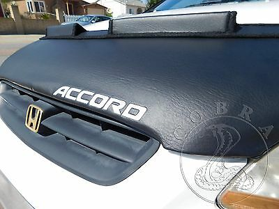Car Bonnet Hood Bra + ACCORD LOGO Fits Honda Accord 98 99 2000 01 02 Sedan Coupe