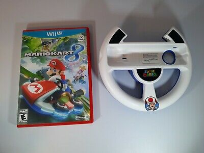 Mario Kart 8 Wii U Bundle with Nintendo Wii Steering Wheel. Complete tested work