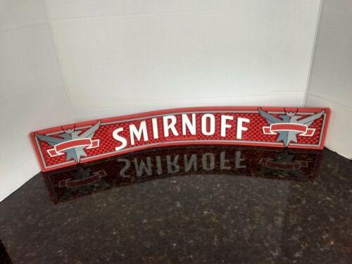 Smirnoff Vintage Bar Mat 3 1/2 x 23 1/2 Vodka Bar supplies Rail Drain Drip Mat