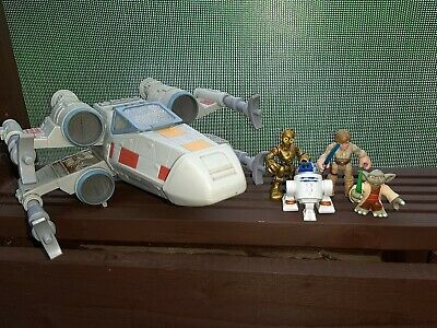 Star wars Galactic Heroes Figures Bundle Playskool Imaginext XWING