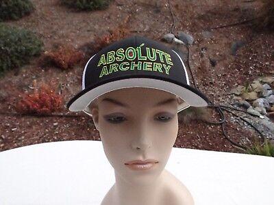 f1f0f1b1b23b77 NEW ABSOLUTE ARCHERY EMBROIDERED FLEXFIT L/XL BLACK MESH BASEBALL CAP $9.99