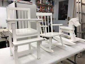 Meubles en bois pour enfants ou poupées
