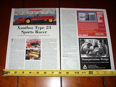 XANTHOS TYPE 23 SPORTS RACER LOTUS - ORIGINAL 1998 ARTICLE