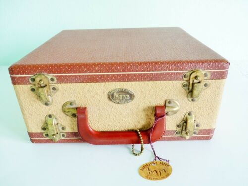 VTG Barnett & Jaffe BAJA SLIDE/COIN CASE TWEED LEATHER 2 Sided 500 SLOT 3 AVAIL