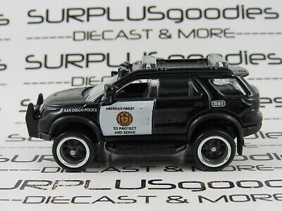 Matchbox LOOSE 2012 '12 FORD EXPLORER SanDiego Police Custom SUPER w/Real Riders