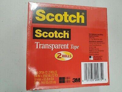 Scotch Transparent Tape 34 2592 3 Core Transparent 2pack