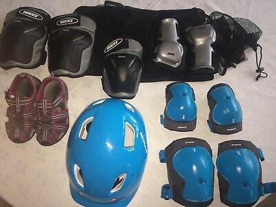 Lot Casque enfant vélo avec Protections + sandale taille 28