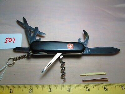 #501 Black Wenger Swiss Army Swiss Sportsman 3-Layer Locking Knife