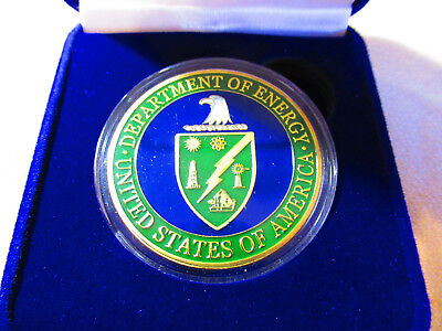 United States Department Of Energy  Doe  Challenge Coin W  Presentation Box