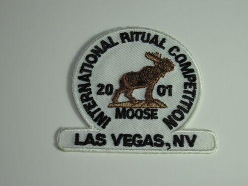 Loyal Order of Moose International Ritual Competition 2001 Las Vegas Patch