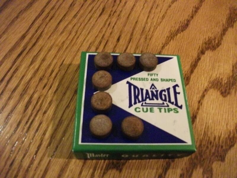 TRIANGLE 13mm Pool Cue Stick Tips (7 TIPS) Professional Medium-Hard Tip