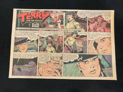 #18 TERRY AND THE PIRATES by George Wunder Lot of 5 Sunday Half Page Strips 1970