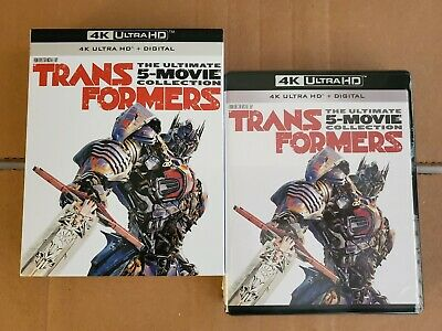 LIKE NEW!! - Transformers 5-Movie Collection: w/Mint Slipcover (4K HD & Blu-ray)