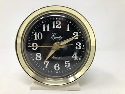 Vintage Equity Minibell Wind Up Luminous Alarm Clock Almond Gold Color 4.25