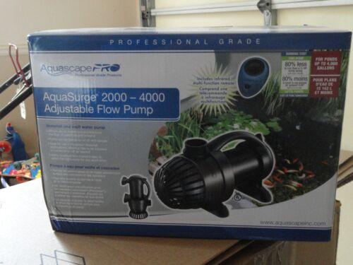 Brand New Aquascape AquaSurge 2000 to 4000 Pro Adjustable Flow Pump for Pond