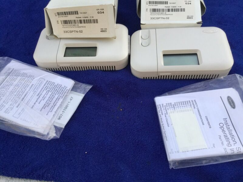 Carrier Programmable Thermostat 33CSPTN-02 Lot of 2