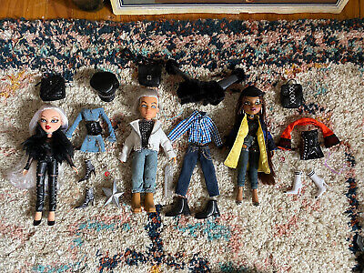 Bratz Collector Sasha Cloe Cameron Out Of Box With All Accessories Doll Lot