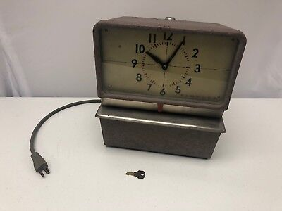 Vintage Heavy Duty Simplex Time Clock Punch Card Recorder Electric Kcg15ra