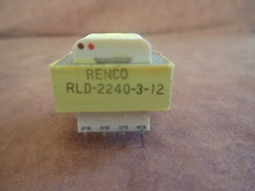 Power Transformer, RENCO RLD-2240-3-12, 2.4 VA, 115/230VAC Pri, 6.3/12.6VAC Sec