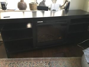 Media unit with built in fireplace / heater