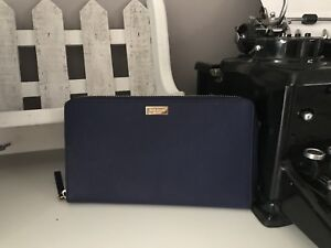 Kate Spade Navy Blue Travel Wallet