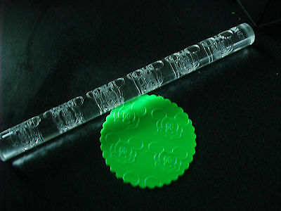 LARGE 29cm MICKEY MOUSE TEXTURED ACRYLIC ROLLING PIN EMBOSSED CAKE DECORATING