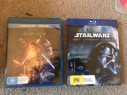 Lord of the Rings and Star Wars BLU Ray collection