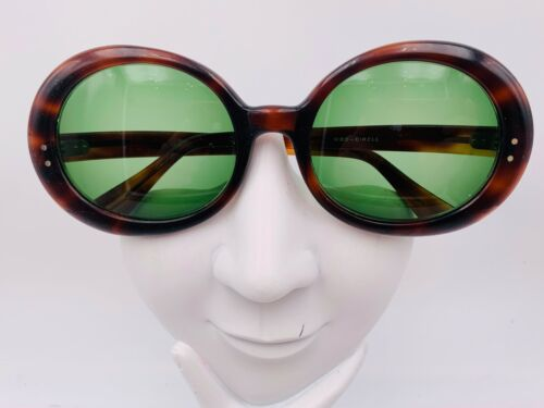 Vintage ESO Circle Tortoise Oversized Oval Sunglasses France FRAMES ONLY
