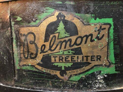 Antique 1920s Electric Belmont Treeliter Christmas Tree Stand 4 Bulb Socket