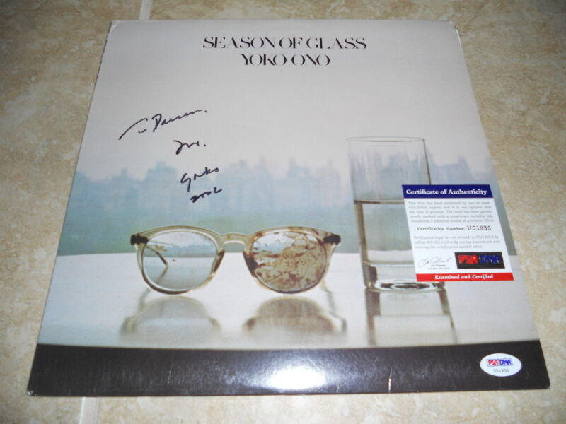 Yoko Ono Season of Glass Signed Autographed LP Album Record PSA Certified