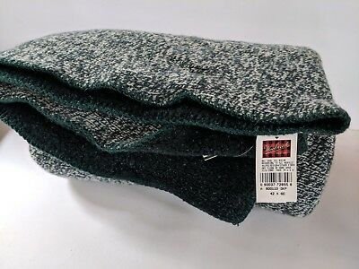 "New With Tags Woolrich USA Wool Blend Blanket Summit Rag Throw 42""x60"" Woolrich Wool Throw"