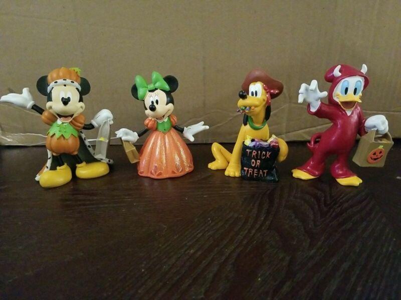 Disney Halloween Figurines Mickey Minnie Pluto Daffy CVS 2012 Collection