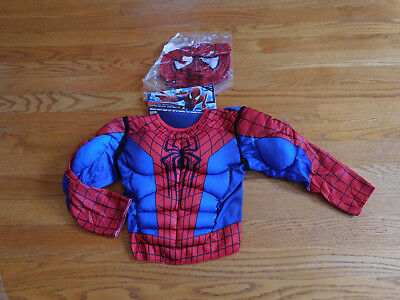 Toddler Superman Muscle Costume (Superman Muscle Chest and Mask Toddler Halloween Costume Size 2T)