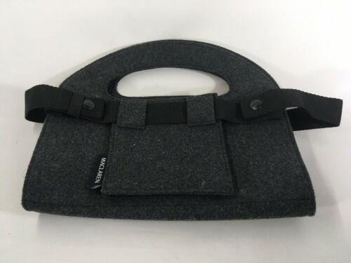 Maclaren Baby Stroller Fleece Storage Organizer Bag Gray