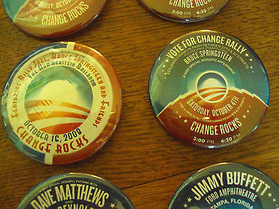 OBAMA BRUCE SPRINGSTEEN '08 CONCERT SERIES PINS