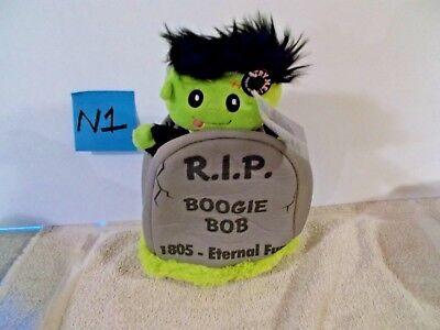 BOOGIE Bob Animated Song Tombstone Halloween Skeleton Toy