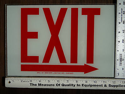 Exit Sign Replacement Glass Sz. 12 X 8 Right Arrow