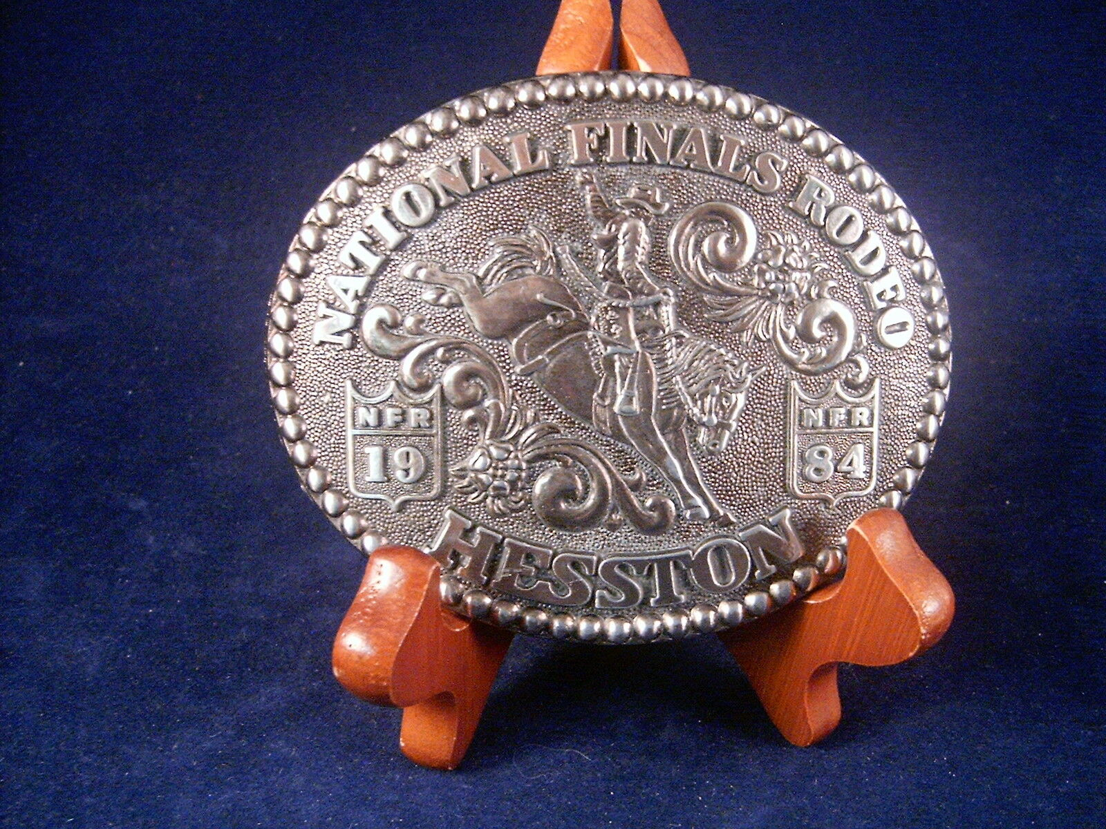 1984 HESSTON NATIONAL FINALS RODEO ANNIVERSARY SERIES BELT BUCKLE  - $9.99