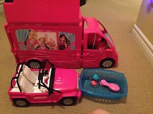 Barbie Trailer/House,Pool and Car