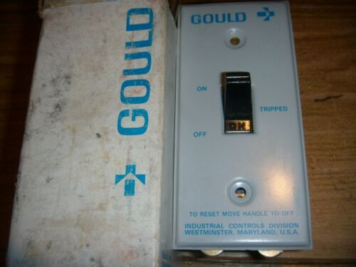 GOULD C10T2 - 2-POLE MOTOR STARTER SWITCH w/ PLATE 1HP,VAC-VDC