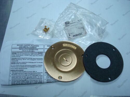 "HUBBELL S2525 SCRUBSHIELD FLOOR BOX COVER ROUND COMBINATION 2 1/8"" X 3/4"" NIB"