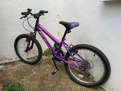 FALCON VIOLET KIDS MOUNTAIN BIKE 11 INCH FRAME 20 INCH WHEELS 6-9 YEAR OLDS