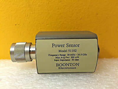 Boonton 51102 30 Mhz To 26.5 Ghz 300 Mw -20 To 20 Dbm Power Sensor