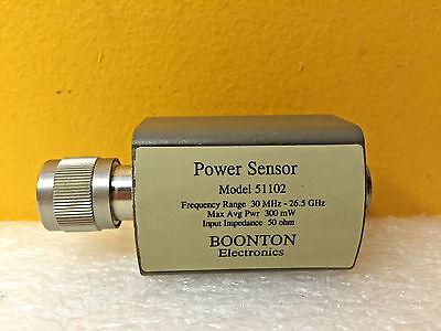 Boonton 51102 30 Mhz To 26.5 Ghz 300 Mw -20 To 20 Dbm Power Sensor